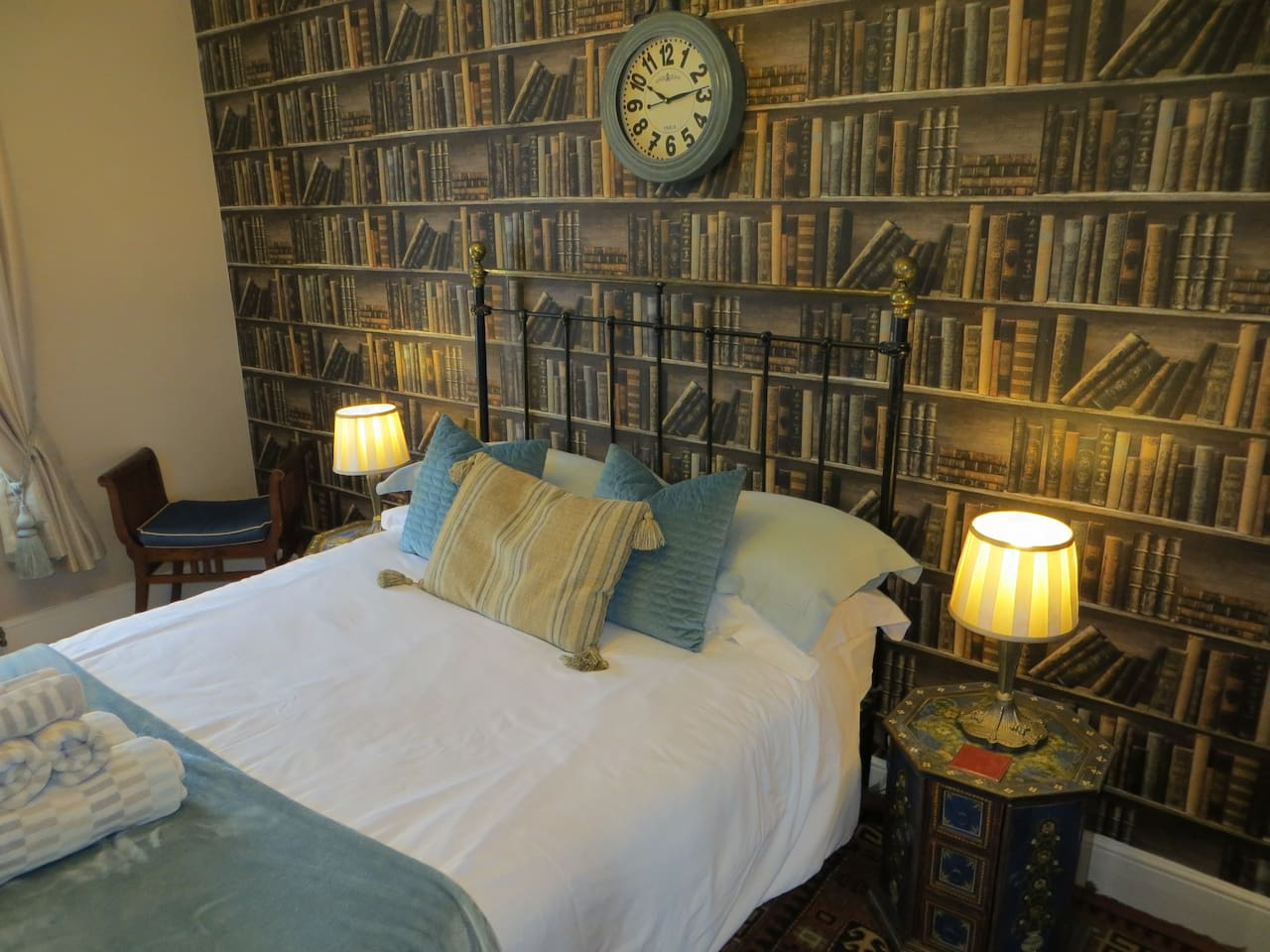 Sumptuous Victorian Double Bed with Egyptian Cotton Sheets.