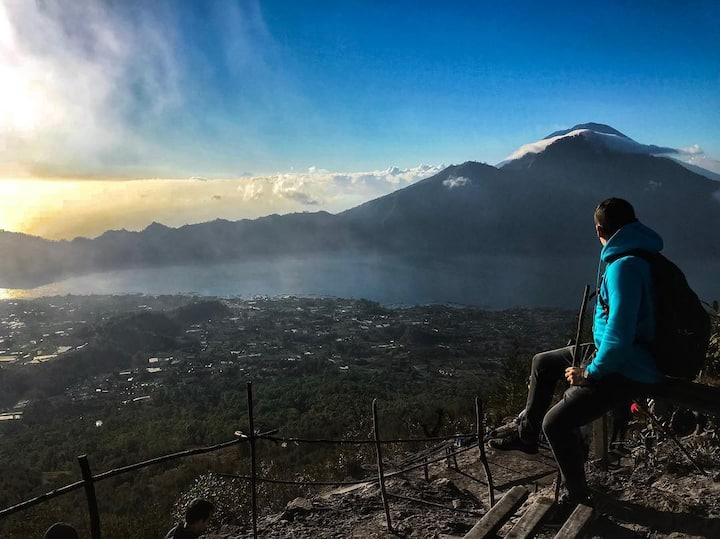 Enjoy sunrise atop mount batur
