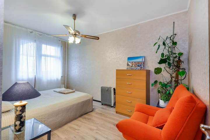 Comfortable, cozy & bright apartment near Subway - Moskva - Appartement