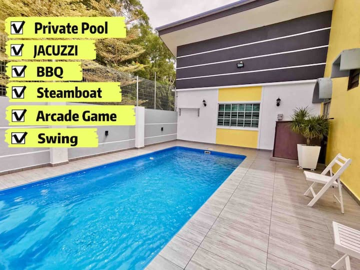 H&H  1 【Private Pool•Jacuzzi•BBQ•Steamboat】