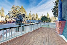 Enjoy your morning coffee on the front deck as the sun rises.