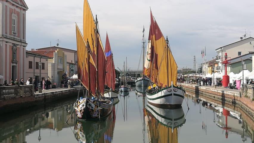 Appartamento sul canale leonardesco di Cesenatico