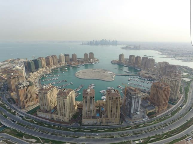 Breathtaking views of pearl qatar  studio