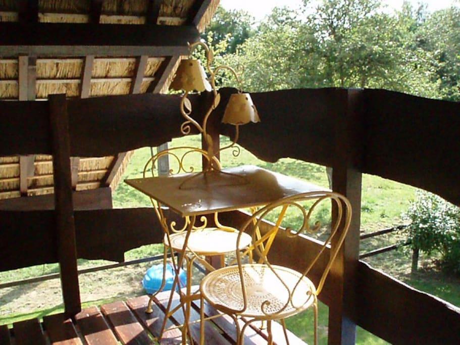 La petite terrasse vue de près