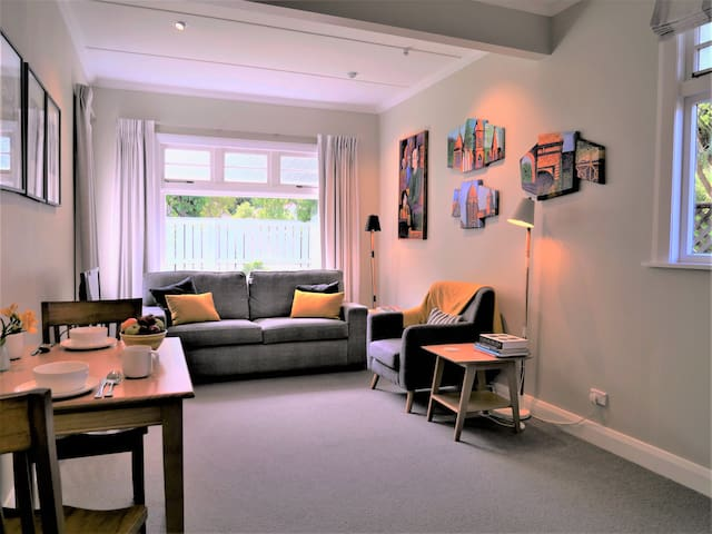 Unwind in stylish 3-room suite. Town 10 min walk