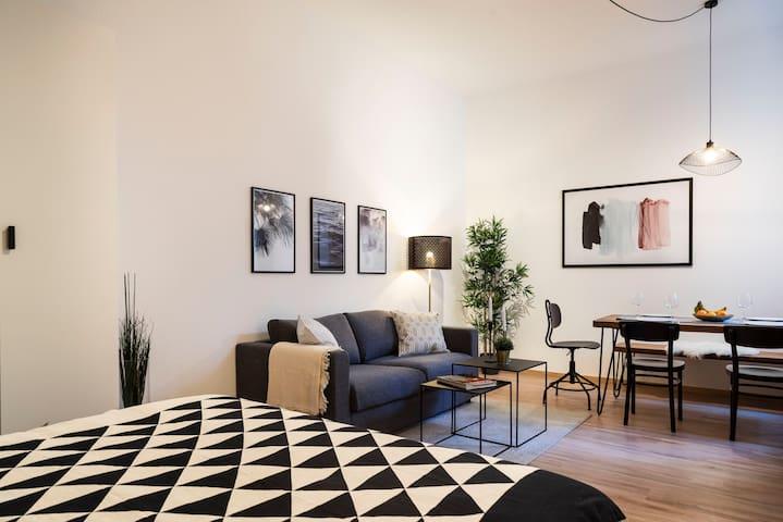 1- Zimmer Wohnung mit modernem Interior