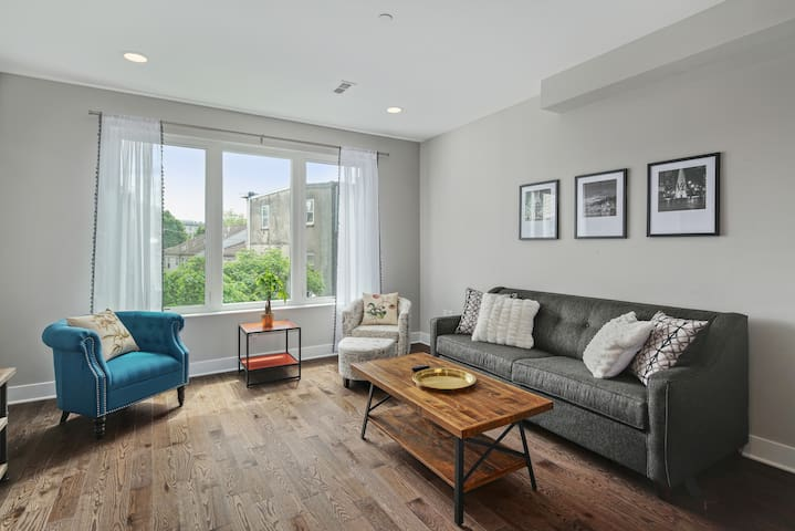 Great Roofdeck and Modern Finishes in Brewerytown!