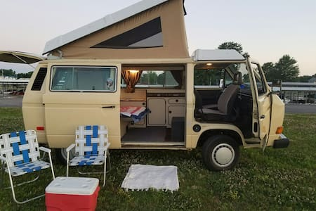 The Hippie Van Camping Experience! - Camper/RV