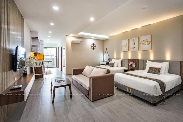 Top1- Big familly room 3bed&1 Sofabed- Skyline apt
