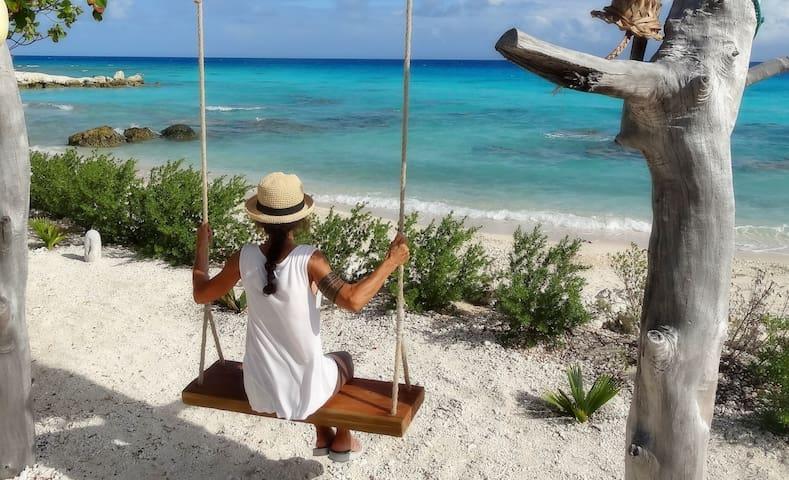 se balancer face au lagon