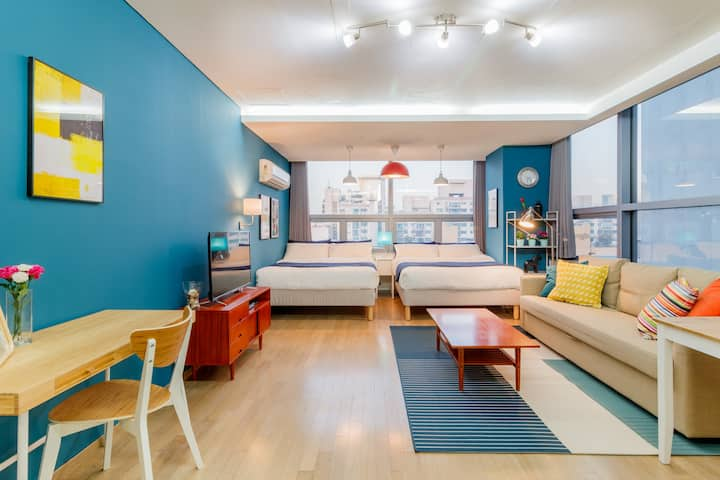 [4] Large room with 2 bed next to Gangnam Station