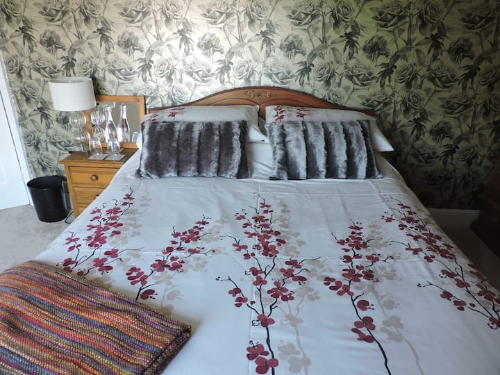 Comfortable room with views of the Isle of Wight