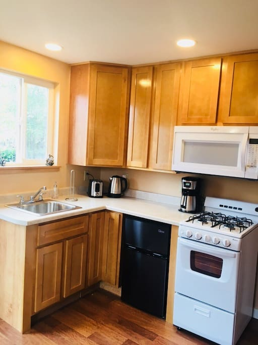 Fully equipped efficiency kitchen