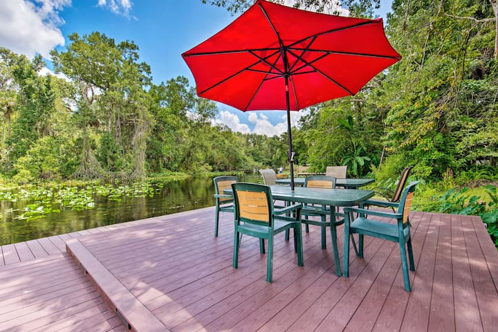 Waterfront Bungalow Studio on Rock Springs River!