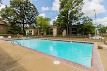 Community pool.  Open from Memorial Day to Labor Day