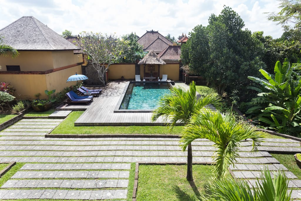 Our spacious garden and pool