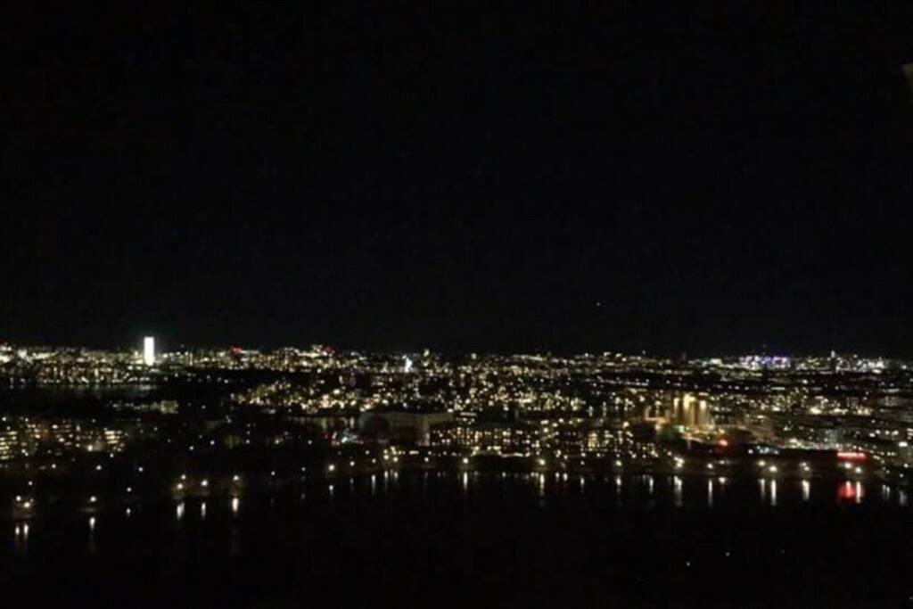 Utsikten på natten