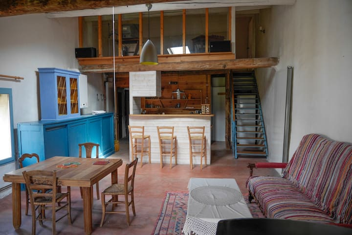 Nice Duplex apt, piano and garden - Saint-Hippolyte-du-Fort - Lejlighed