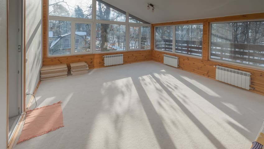 Panoramic view at the Spiritual, Meditation and Yoga room on the 3rd floor