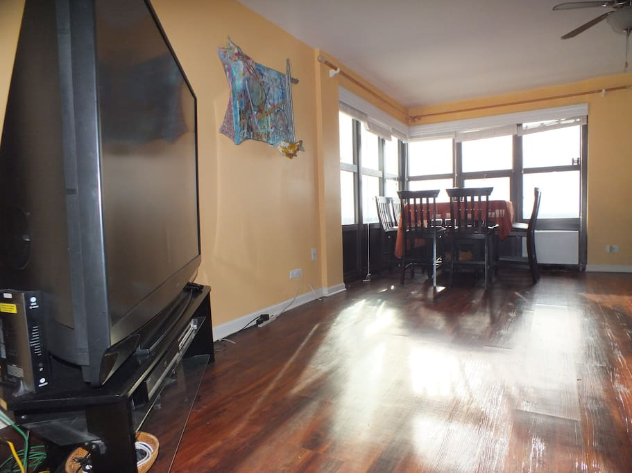 New faux hardwood floors in front room