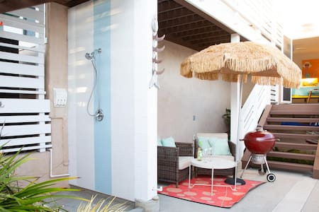 Endless Summer's Hang Ten Hut: walkable retro-fresh studio in the heart of Encinitas