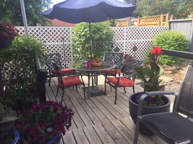 Access to deck and backyard in spring/summer