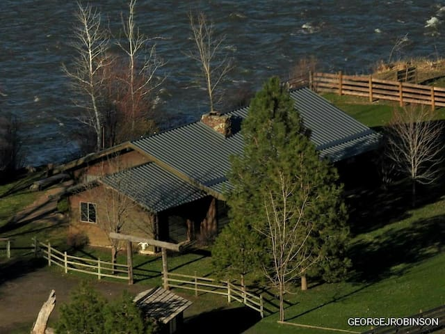 Troy OR riverside cabin prev owned by John Fogerty