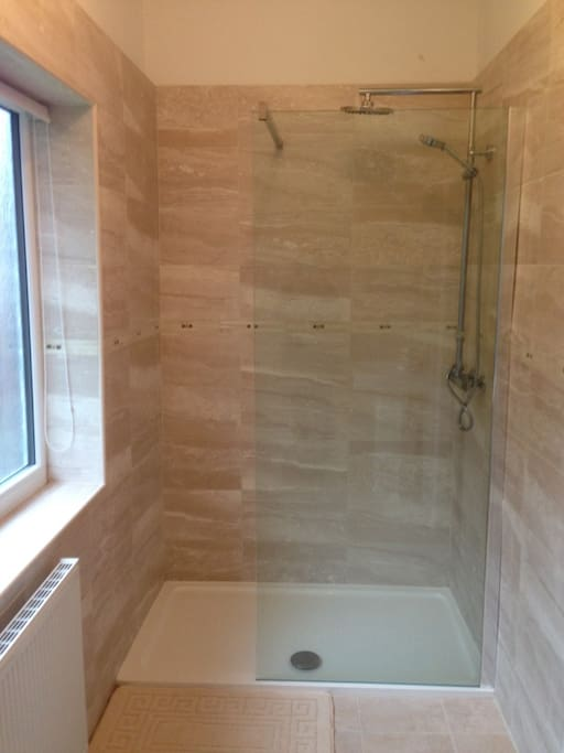Your lovely walk-in en-suite shower