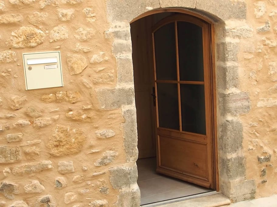 Front entrance to La Miellerie (the Honey House), one bedroom apartment accommodating 2 people