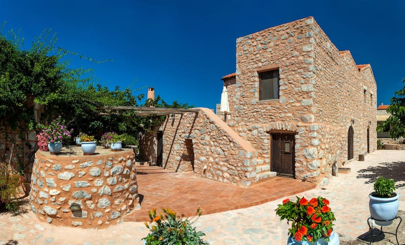 Stone built studio for 4,Olive Grove,Near Beach,Mani 1