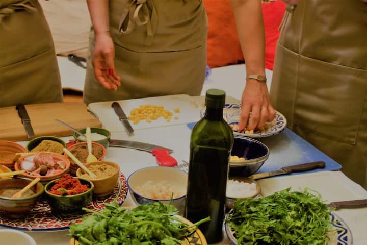 preparing harira (soup)