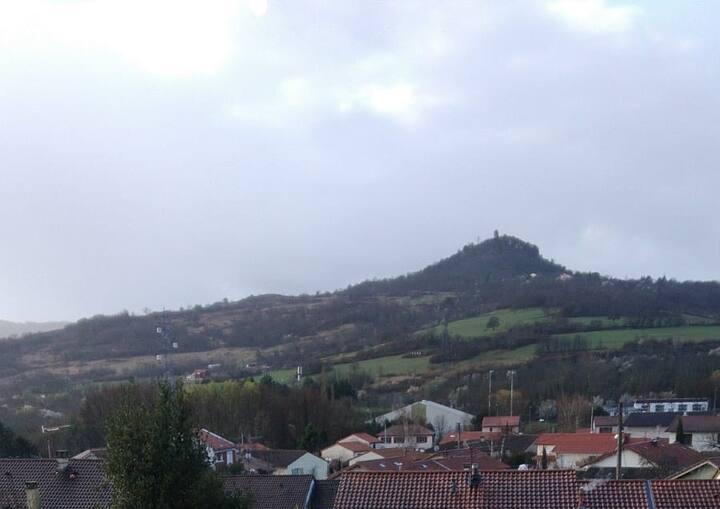 Appartement 2P: belle vue, entre ville et montagne