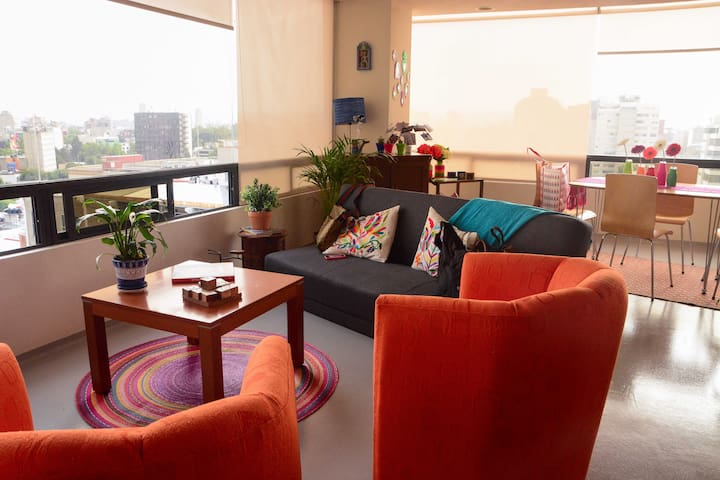 Cozy flat w/great views at La Roma - Roma Norte - Lägenhet