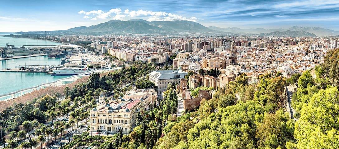 Vistas desde el Parador de Málaga