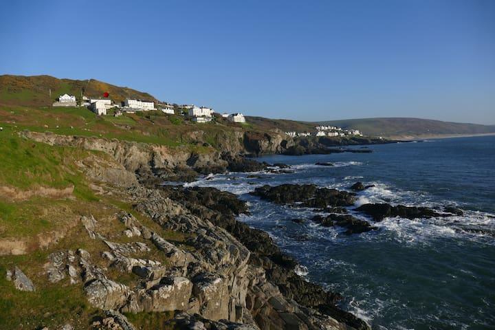 Seacroft holiday home with sea views - Mortehoe - Departamento anexo