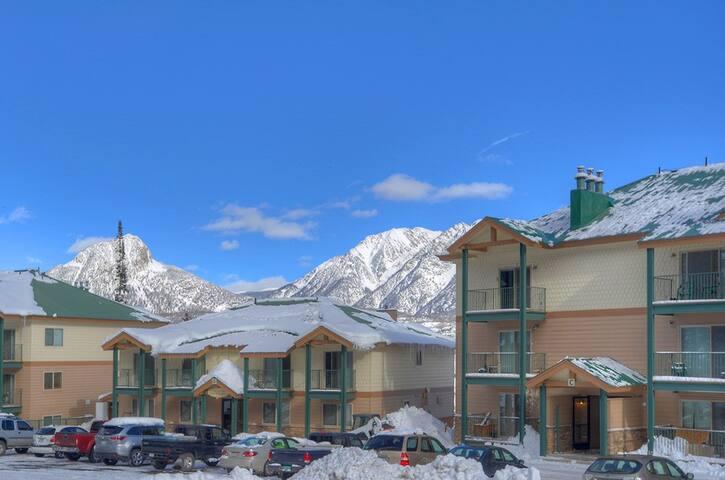 Vacation rental condo at Purgatory Resort in Durango Colorado winter mountain views