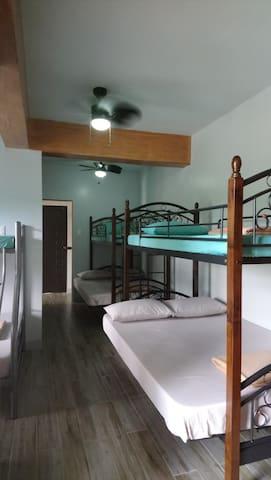 Dorm, coming in from room verandah