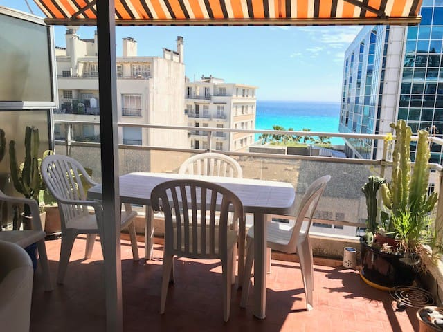 nice two bedrooms, parking, terrace sea view