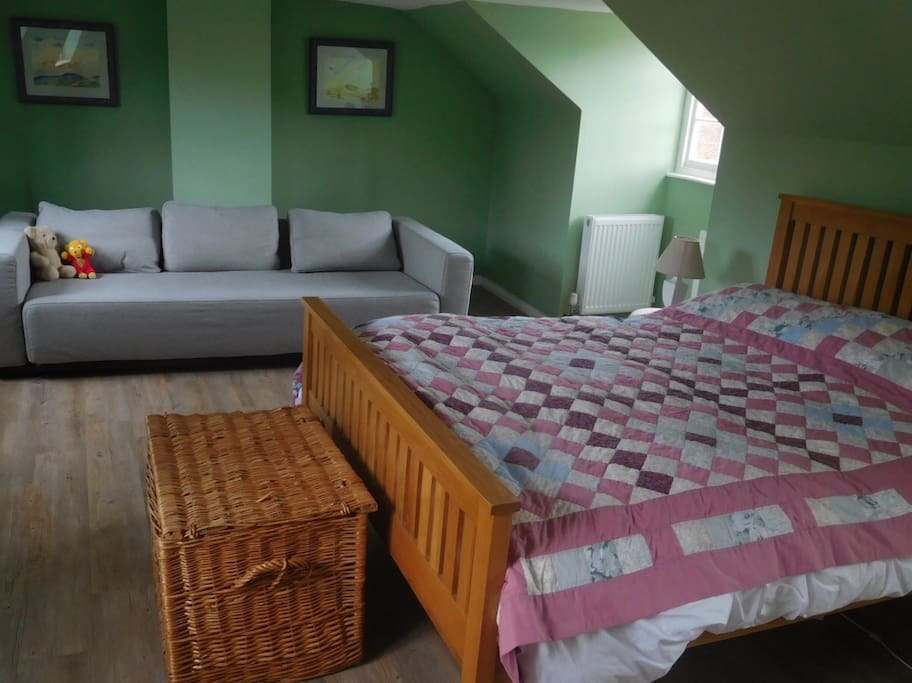 The top bedroom with views over The Green and to the Savernake Forest