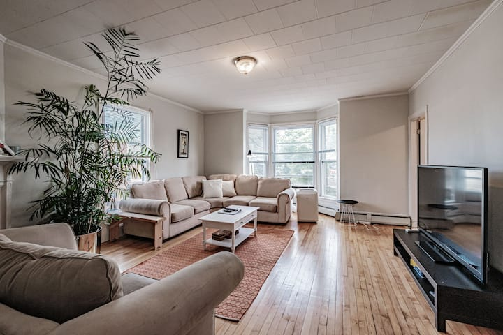 Sunny Downtown 2 Bed Apt, Parking