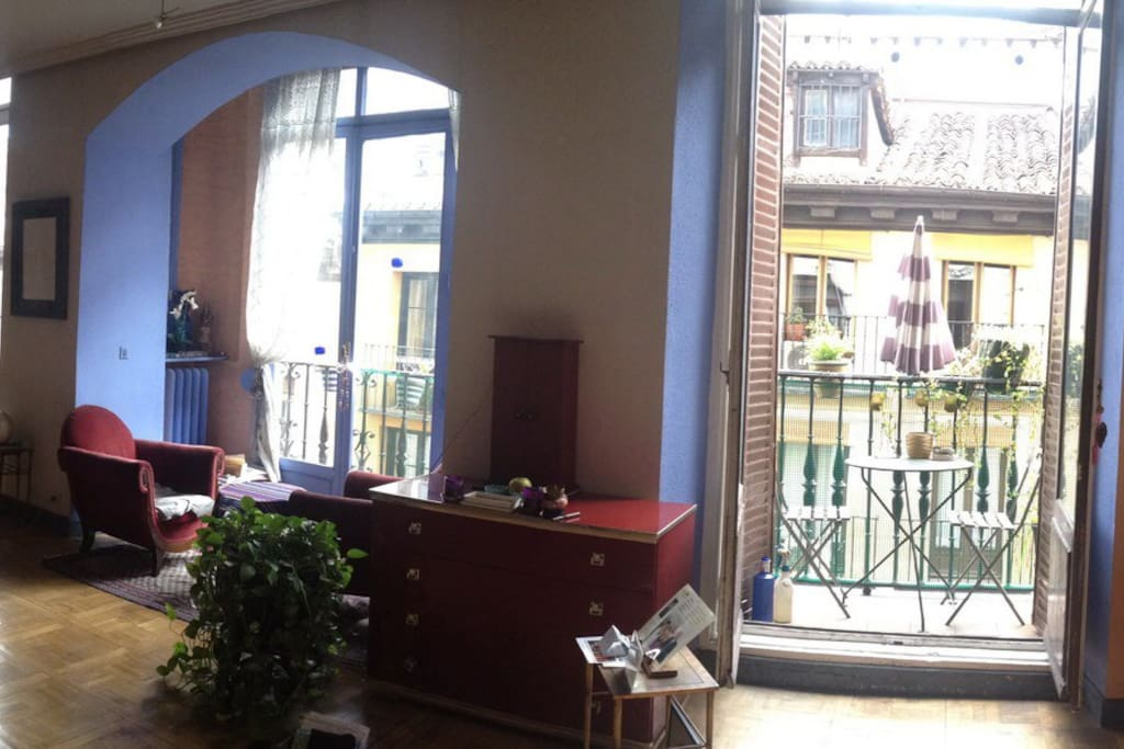 This is a view of the terrace from main living space