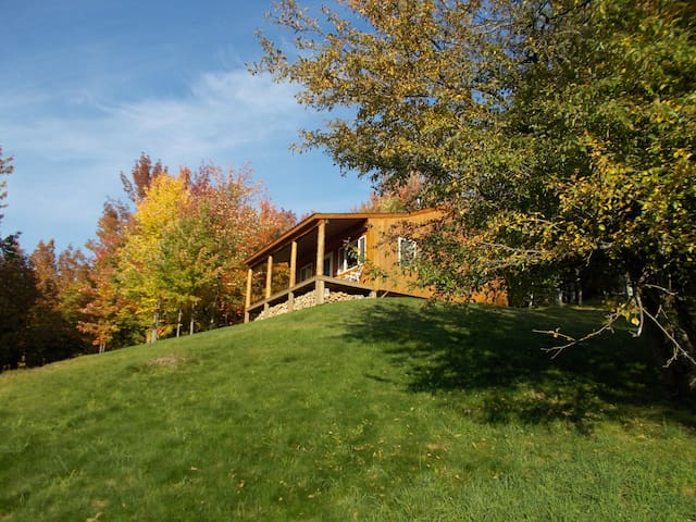 Secluded mountain cabin on 24 acres with big views
