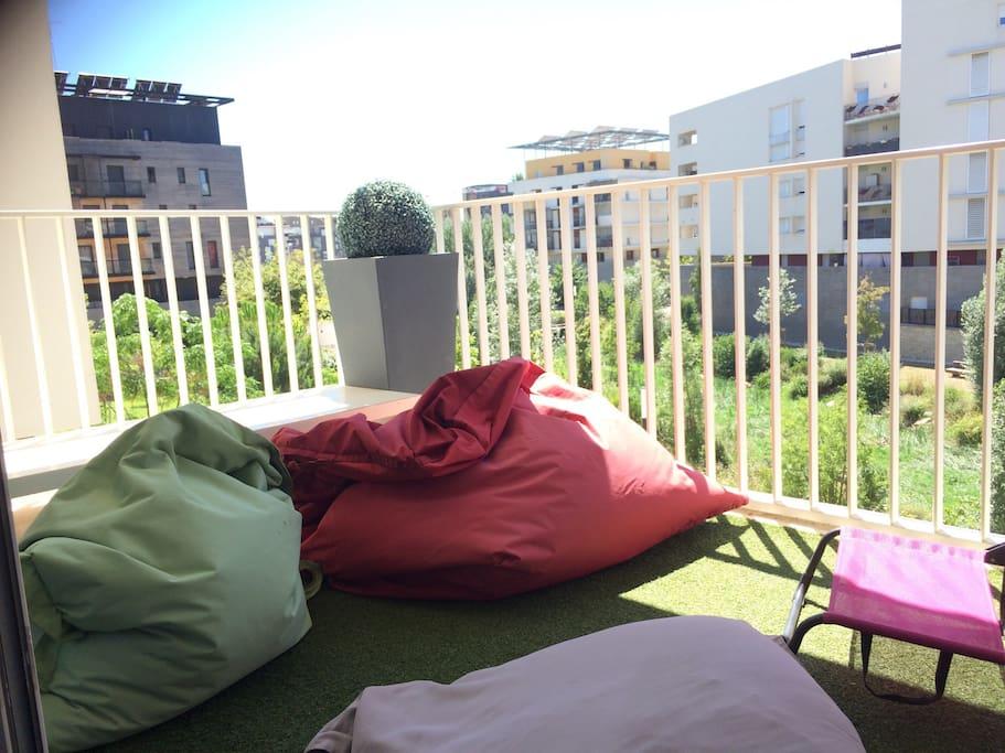 Terrasse 1 qui donne sur beau parc