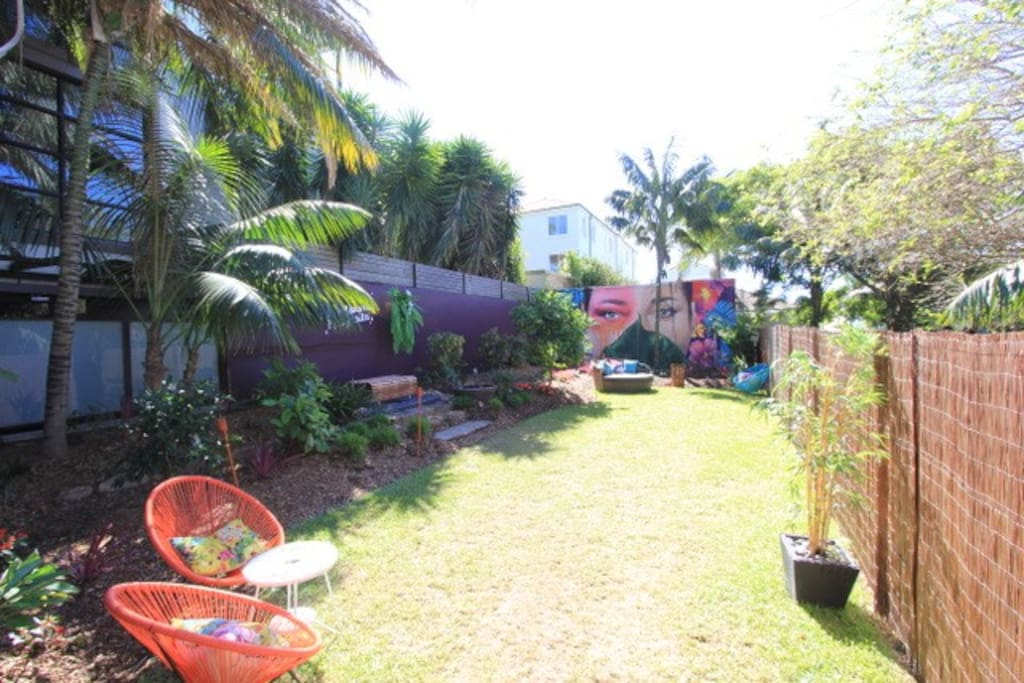 Large tropical garden