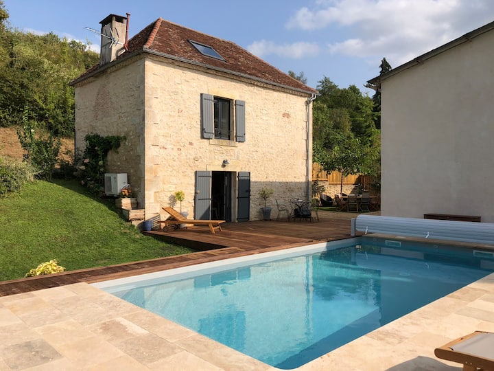 Maison 6 pers clim et piscine privée chauffée