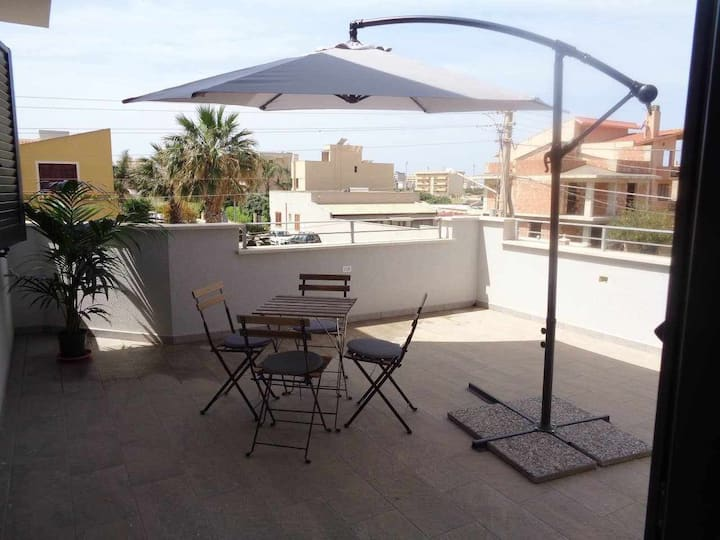 Two floor apartment  near the beach of Erice