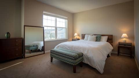 Bedroom in Beautiful home.  Open Field views!