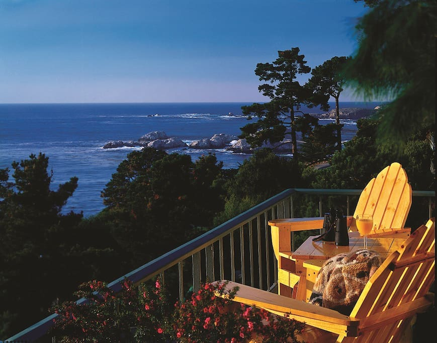 Our townhouse has two private balconies with an ocean view.
