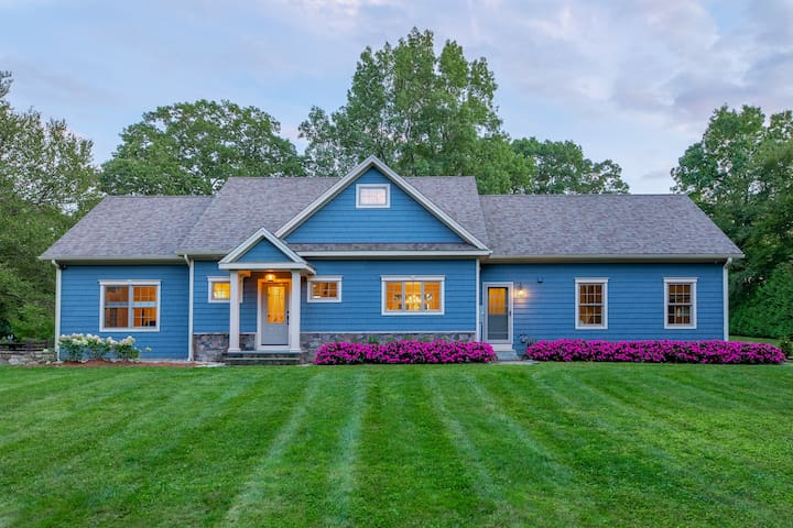 Private Country Home on 6.5 acres in Bethlehem CT