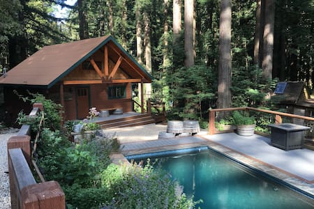 Rustic Cabin in the Redwoods